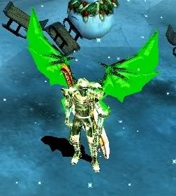 Alas Para Blade Knight, Soul Master e Muse Elf - Verde AsasBk33-VerdeFlorescente