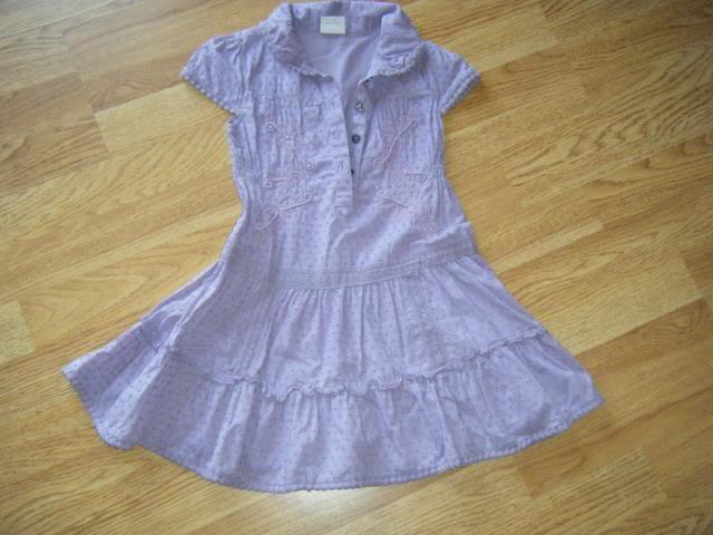 GIRLS NEXT DRESS AGE 3-4 LILAC DSCF3039-1
