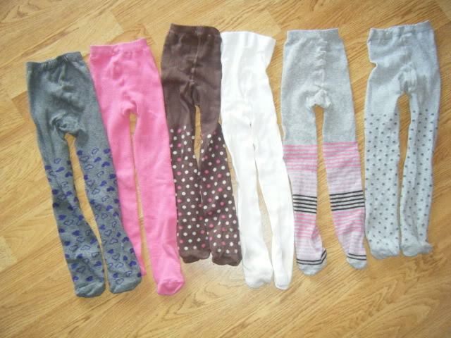 SELECTION OF GIRLS TIGHTS 3-4 DSCF3042