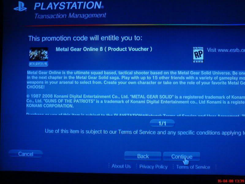 [Oficial] Ya tengo la Beta de Metal Gear Online!!! DSC00699