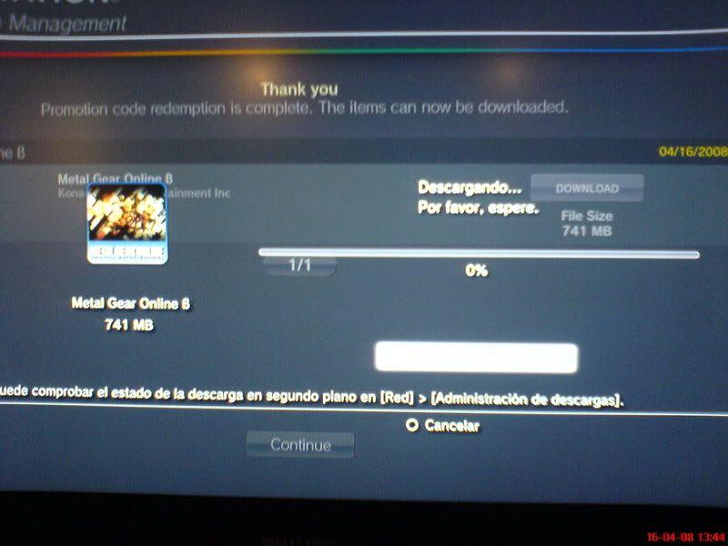 [Oficial] Ya tengo la Beta de Metal Gear Online!!! DSC00701