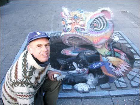 Julian Beever en Argentina Eltipo