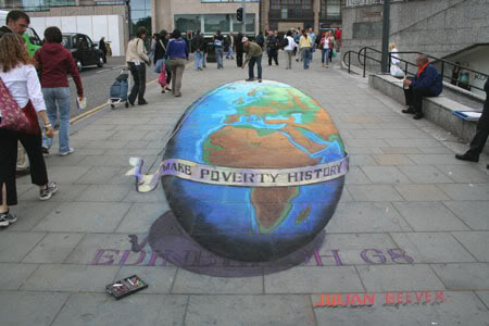 Julian Beever en Argentina Mundo