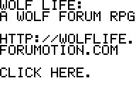 Wolf Life forum banners! WOLFBANNER7