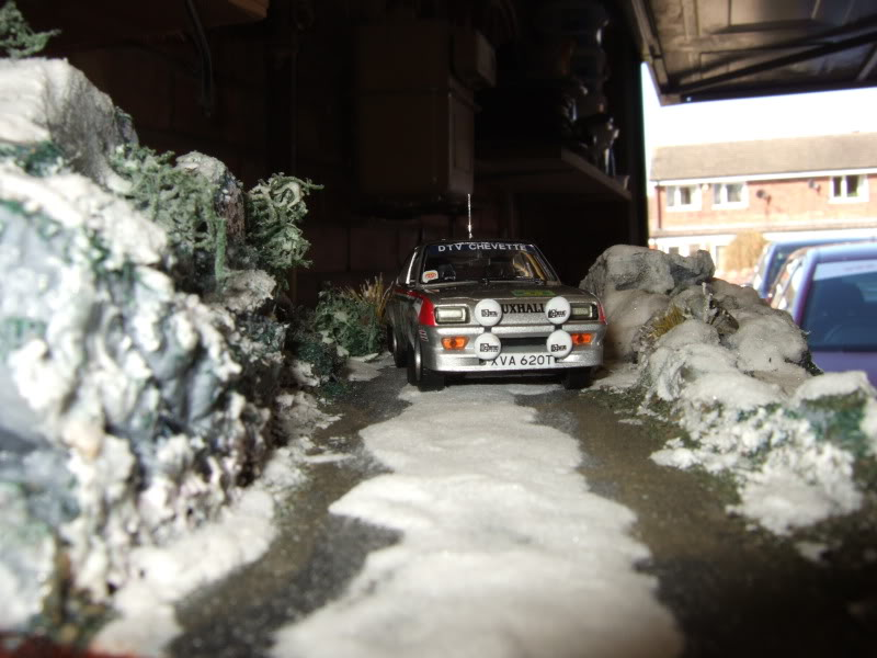 Pentti ---in the snow----Diorama SnowDiorama003