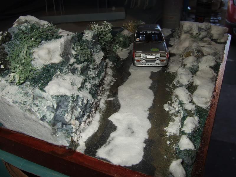 Pentti ---in the snow----Diorama SnowDiorama006
