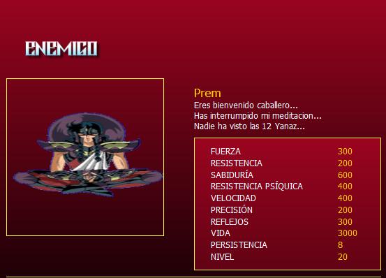 Prem, nivel 20 Prem