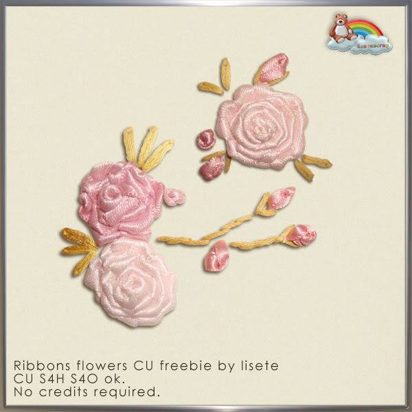 CU Ribbon Flowers by Lisete Scrap Lisetescrap_ribbonsflowers_freebieC
