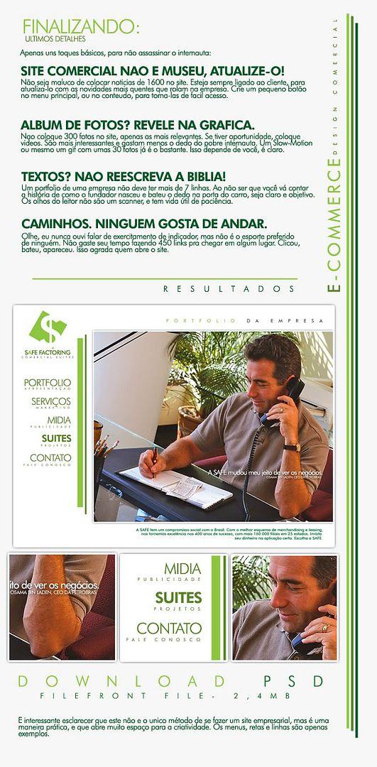 E-Commerce, Aplicações Comerciais, Sites, Etc. PSD-3