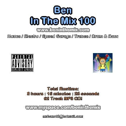 Ben In The Mix 100 - 8 Hour Marathon Mix (Summer 2007) BenInTheMix100CDImage-1