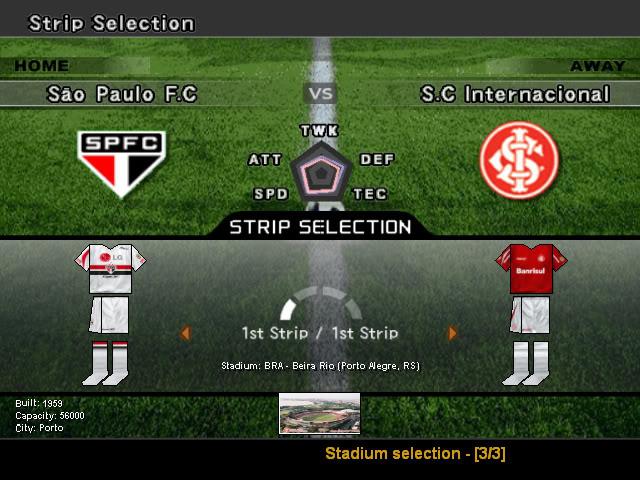 Pro Evolution Soccer 6 (Winning Eleven 10 + Brasileirão 2007) PC-GAME PES6