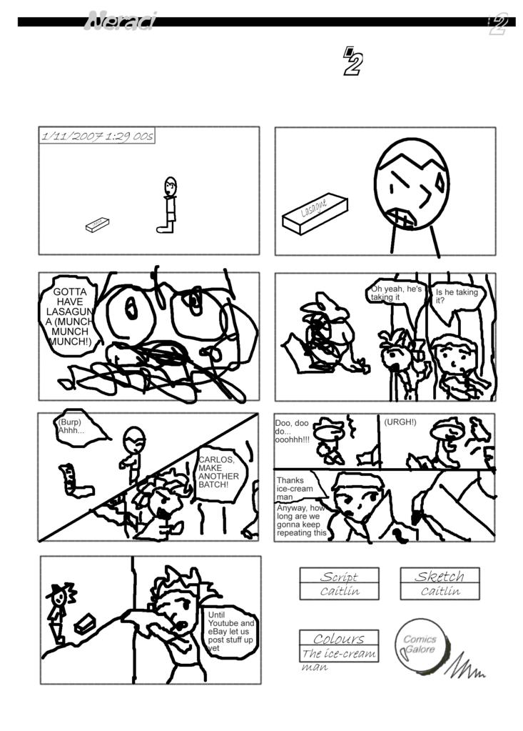Comic 2: The scary lasagne Lasaguna
