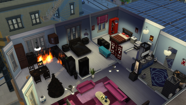 Playing  Sims 4 by Gramcrackers - Page 5 Fire4%20%20goes%20back%20to%20kitchen%20after%20burning%20dresser%20in%202nd%20bedroom_zpsl4vk4y8t
