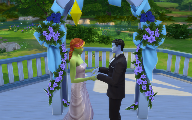 Playing  Sims 4 by Gramcrackers - Page 4 Olie53%20Exchanging%20vows_zpsj0iindug