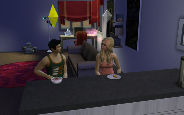 Playing  Sims 4 by Gramcrackers SandyB37andGuadelupeinnewhome_zpsa1ba2846