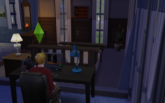 Playing  Sims 4 by Gramcrackers SandyB7Travisworking_zps030c6d25
