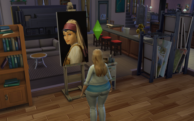 Playing  Sims 4 by Gramcrackers SandyB8paintingexcellent_zps10ef8846