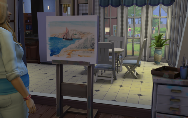 Playing  Sims 4 by Gramcrackers SandyBadmiringoneofherexcellentpaintings_zps533fd964
