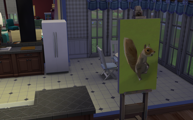 Playing  Sims 4 by Gramcrackers SandyBmovedtoBFFpainting209-10-14_zpsb719dea0