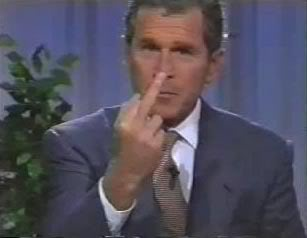 Picures Of You~ George-w-bush-middle-finger