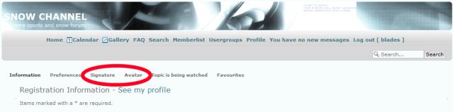 οδηγιες foto uploading and avatar/signature settings 7