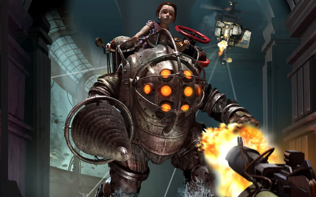 Little sister and BIg Daddy Bioshock-on-DVD-1260