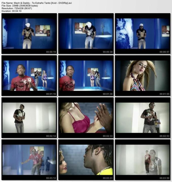 Mach & Daddy - Te Extraño Tanto [Xvid - DVDRip] Txtraotantoty