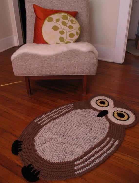 buscando patrón de alfombra de buho