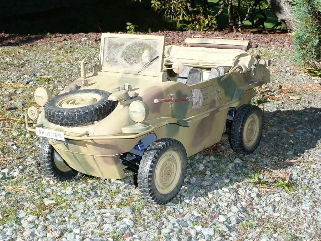 """vehicle - Archive """"old"""" work: RC 21st C Schwimmwagen conversion/scale detailing P1000453"""