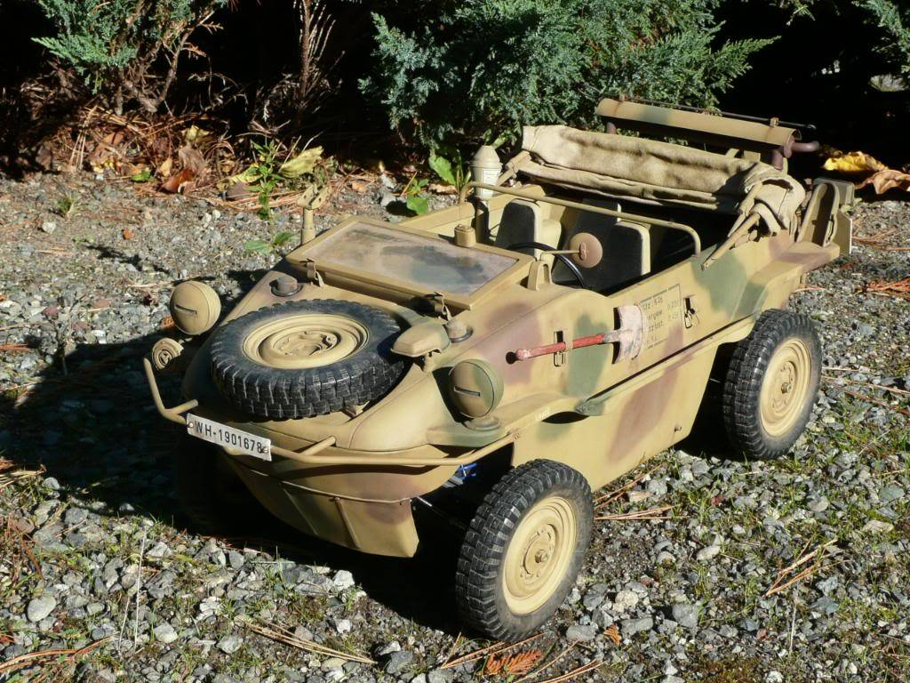 """vehicle - Archive """"old"""" work: RC 21st C Schwimmwagen conversion/scale detailing P1000458"""