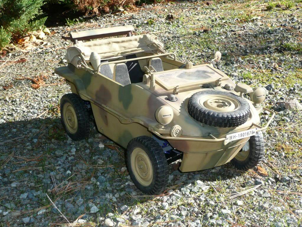 """vehicle - Archive """"old"""" work: RC 21st C Schwimmwagen conversion/scale detailing P1000459"""