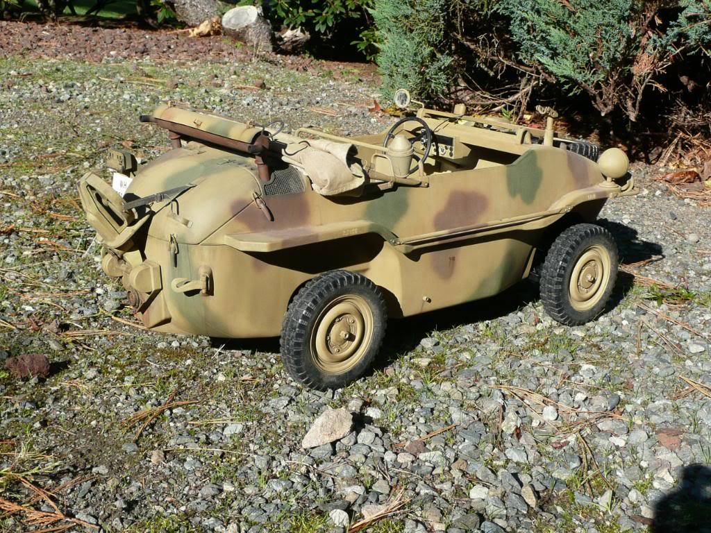 """vehicle - Archive """"old"""" work: RC 21st C Schwimmwagen conversion/scale detailing P1000462"""