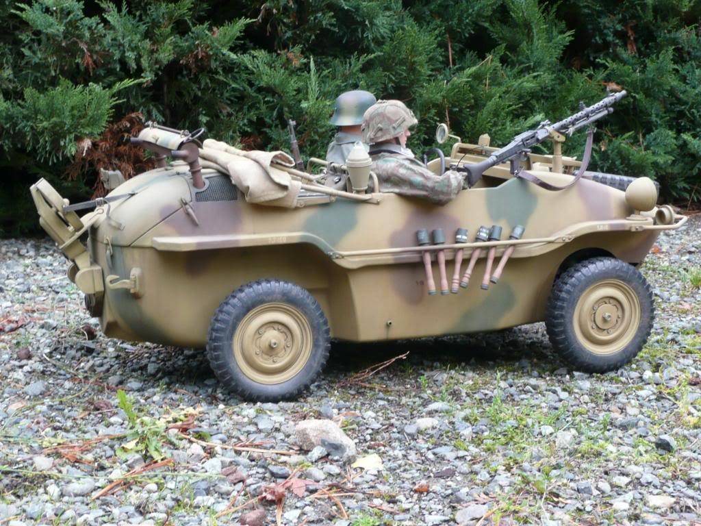 """vehicle - Archive """"old"""" work: RC 21st C Schwimmwagen conversion/scale detailing P1000556"""