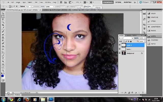 Tutorial Photoshop - Fazendo sua Marca de Vampiro 04