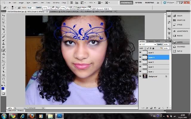 Tutorial Photoshop - Fazendo sua Marca de Vampiro 09