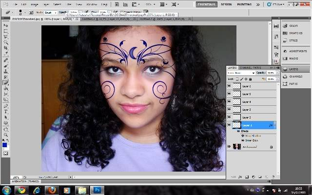 Tutorial Photoshop - Fazendo sua Marca de Vampiro 16