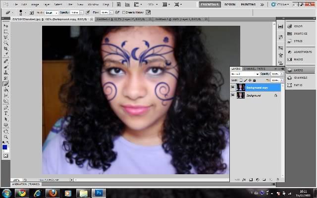 Tutorial Photoshop - Fazendo sua Marca de Vampiro 19