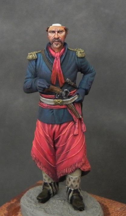 Oficial de cavalaria da Revolução Farroupilha - 54mm Mauro Brabosa Miniatures Gaucho1_zps1anby44f