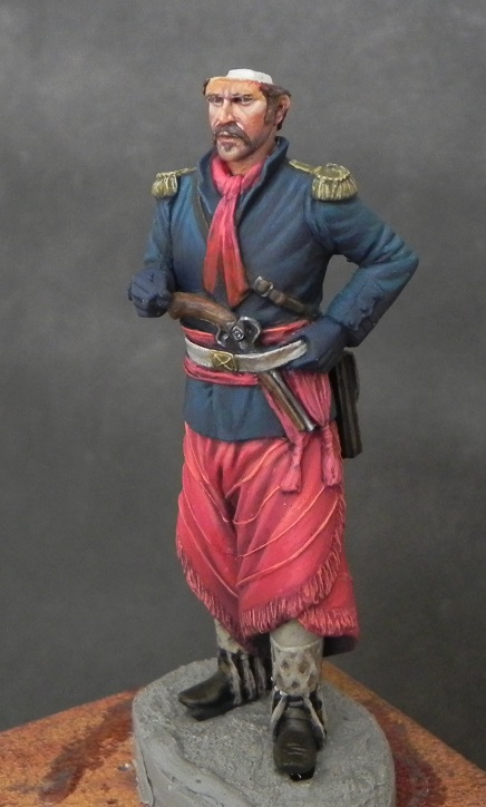 Oficial de cavalaria da Revolução Farroupilha - 54mm Mauro Brabosa Miniatures Gaucho2_zpsnafisds2
