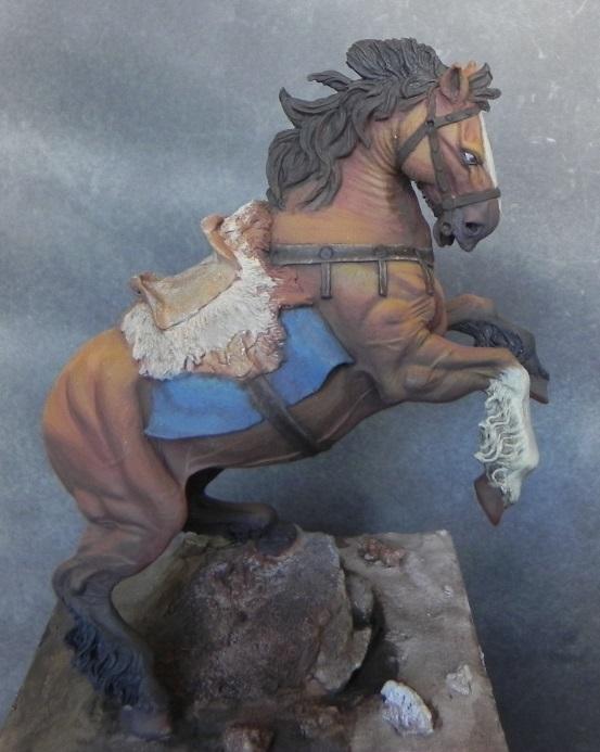 Viking on horseback - 54mm Andrea Miniatures DSCN7090_zps0cc89007