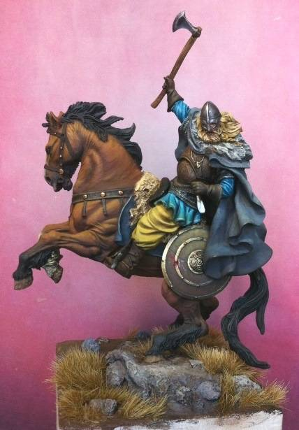 Viking on horseback - 54mm Andrea Miniatures Foto5_zpsd581f757