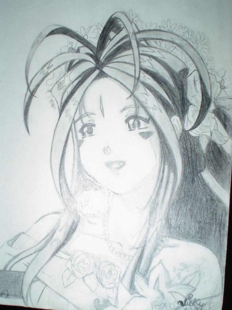 algunos dibujos míos ^^U (By_Kaguya) Belldandyhechoxmoo