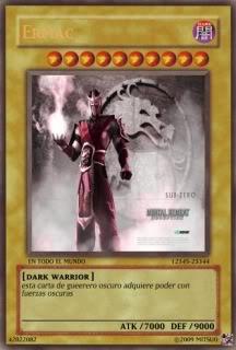 YUGIOH card Maker para uso de que sea Ermac