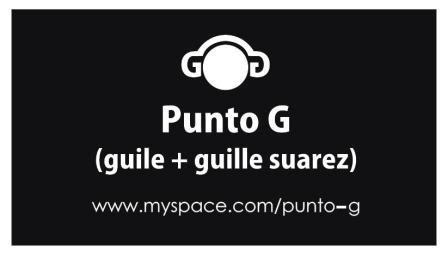 PUNTO G (guile + guille suarez) Abril 2010 Promo Punto-G_web