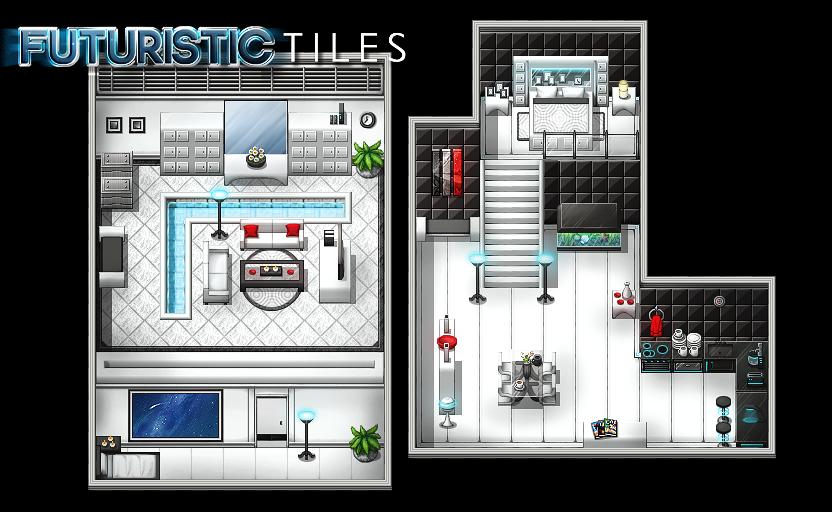 Pack Futuristic Tiles Vx et Vx Ace Example_map3