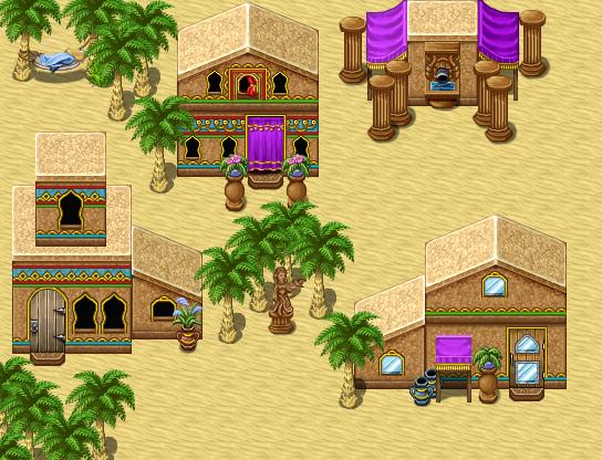 [VX/ACE] Tilesets de ciudades de Lunarea Desert-TownEX