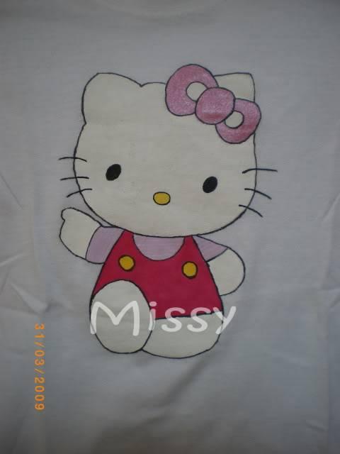 Pinturas em tecido da Missy Kitty