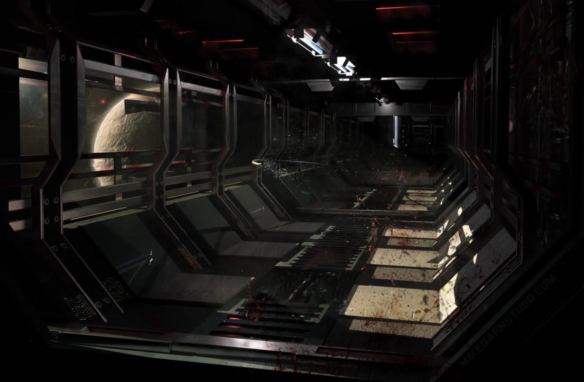 La Lune - Base Spatiale SpaceCorridor2_MikeGarn