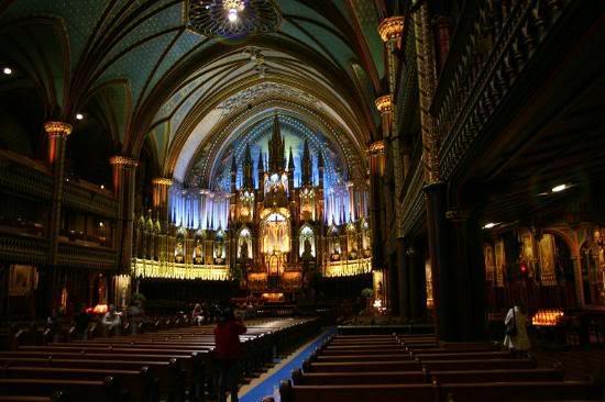 Красивые фото  Монреаля и Квебека Dramatic-interior