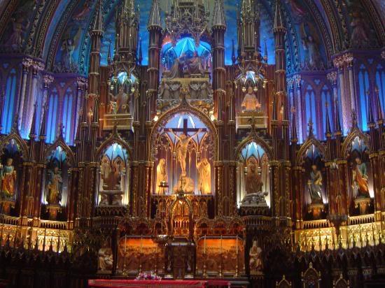 Красивые фото  Монреаля и Квебека Inside-the-basilica